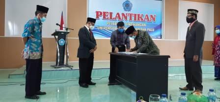 Lantik Wakil Dekan Fekon Dan Fatek, Rektor Unismuh Palu Ingatkan Pemahaman Tupoksi