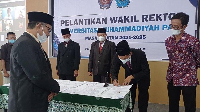 Tiga Wakil Rektor Unismuh Palu Dilantik. Rektor Tegaskan Jangan Ada Universitas di Dalam Universitas